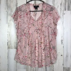 Liz Claiborne | Cherry Blossom Blouse Size Medium